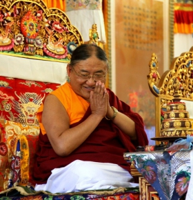 His Holiness the 41st Sakya Trizin at the Padmasambhava Peace Institute